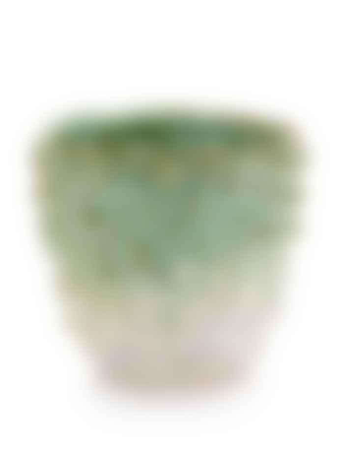 Serax Large Green and White Stekels Pot