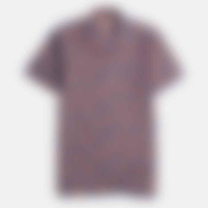 Far Afield Blue Selleck Short Sleeve Shirt Aloha Floral Big Print