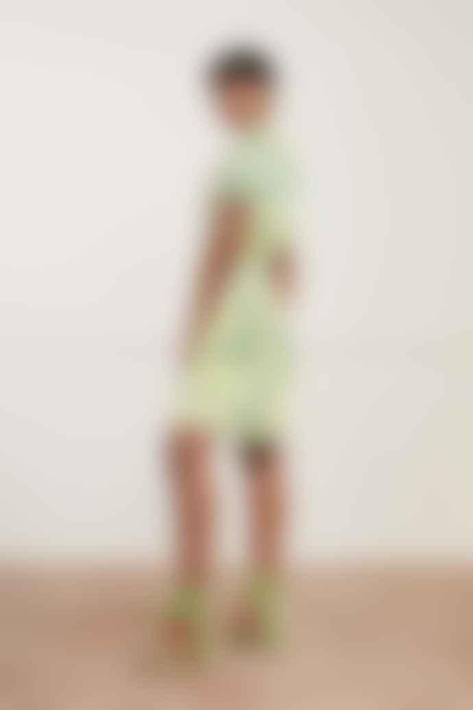 Fabienne Chapot Boyfriend Dress In Lime Lights