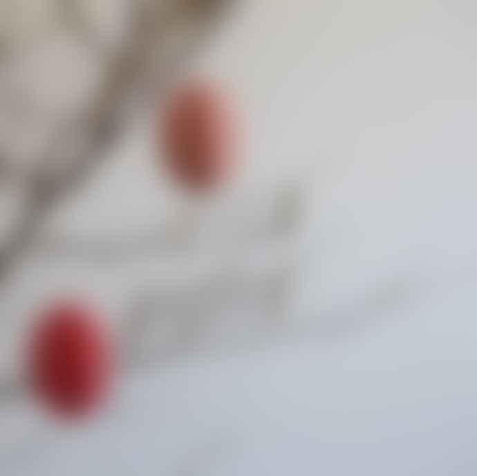 Bungalow DK 2 Pk Paper Swirl Eggs Med / Rose