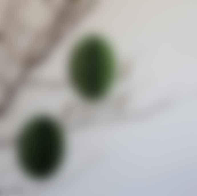 Bungalow DK 2 Pk Paper Swirl Eggs Lrg / Grass