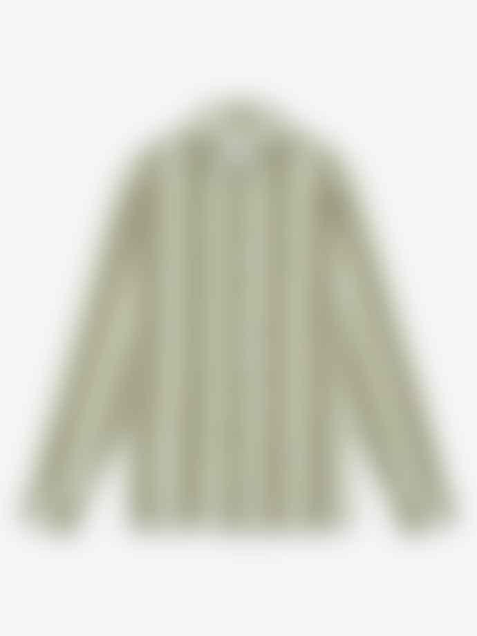 Wax London Whiting Wide Stripe Overshirt