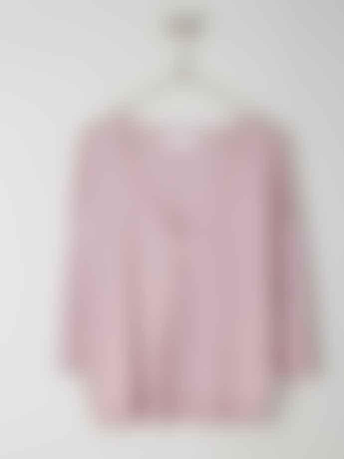 Indi & Cold Openwork Cotton Linen Jacket Lila