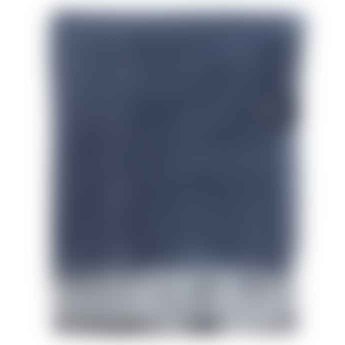 The Tartan Blanket Co. Navy Herringbone Blanket