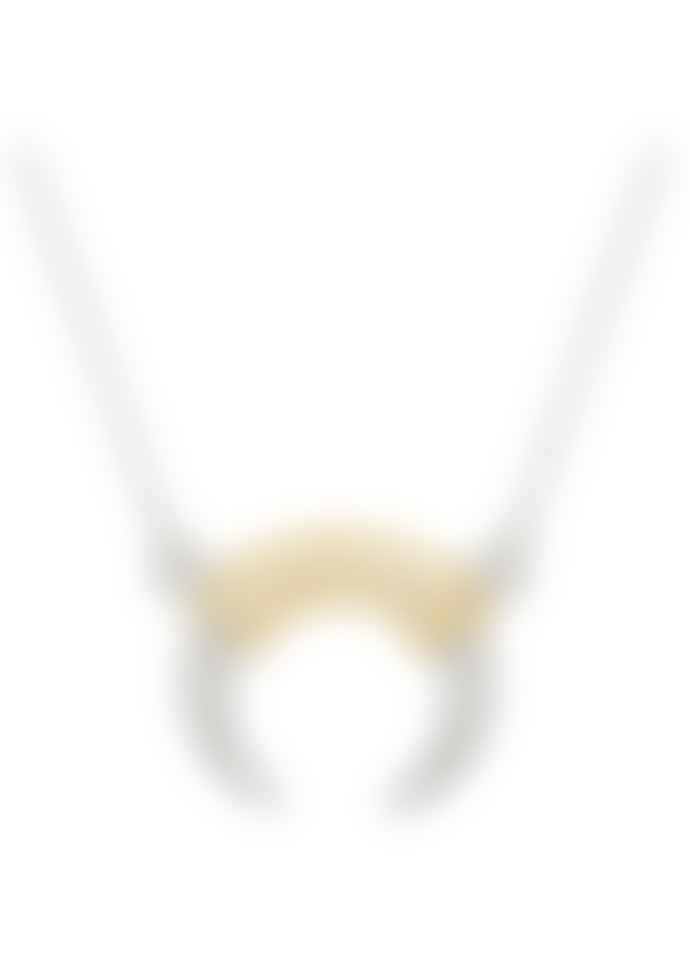 Anna Beck Necklace Horn In Silver And Gold 1255 Ntt
