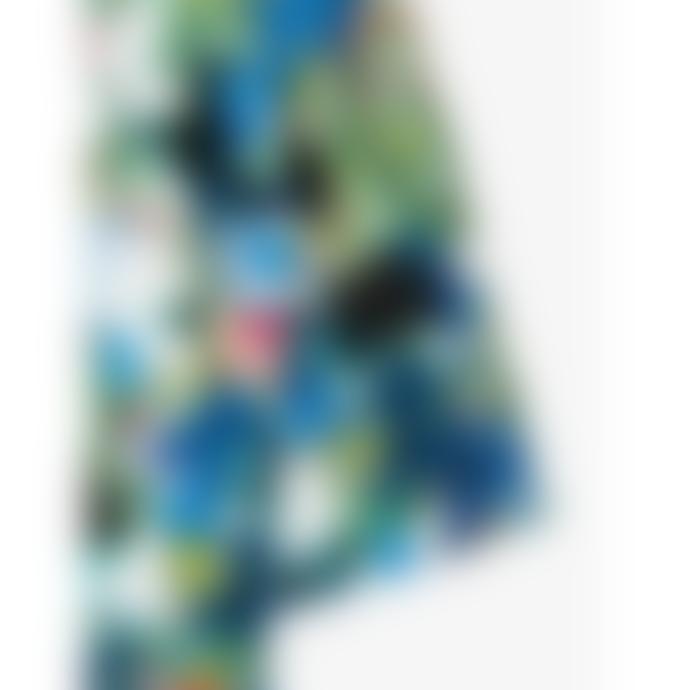 Paul Smith Blue Tones Marble Floral Print Midi Dress