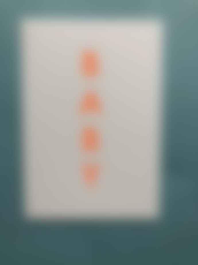 Ola Neon Orange Foil Blocked Baby Card