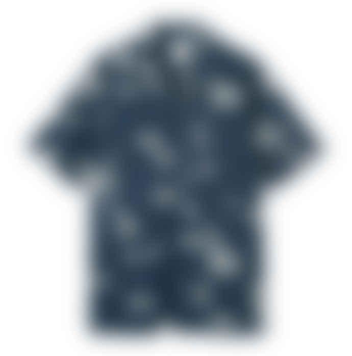 Wood Wood Brandon Graphic Blue Shirt