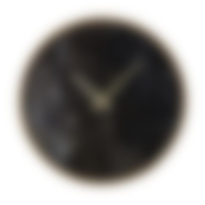 livs Black Marble Effect Wall Clock