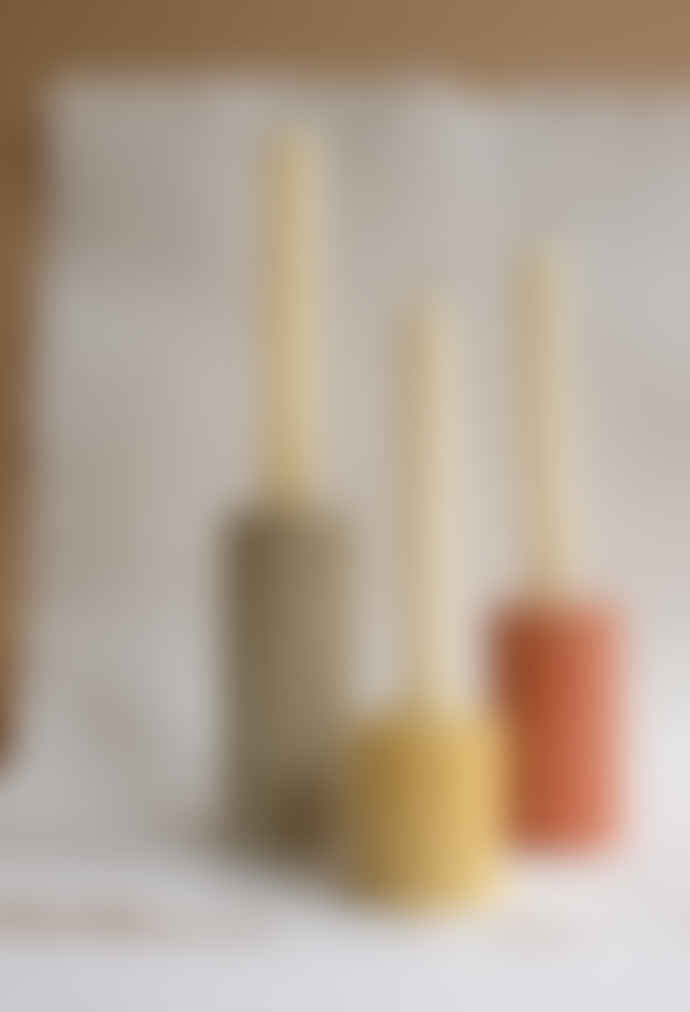 Squid Ink Co. Set of 3 Mixed Column Concrete Candle Stick Holders