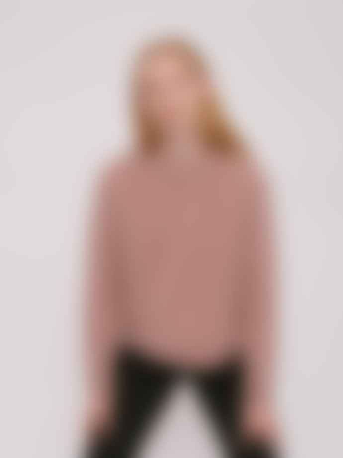 Organic Basics Recycled Wool Boxy Knit In Dusty Rose