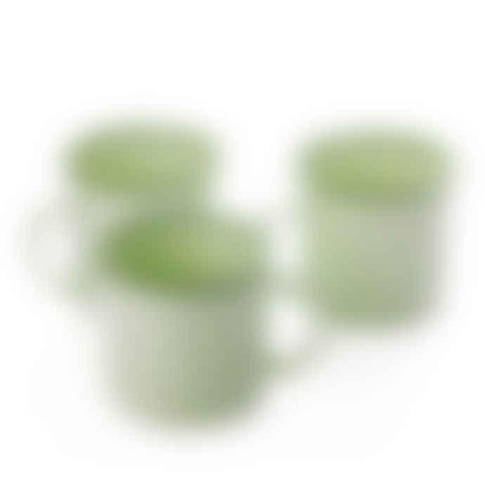 Fantastik Set 2 Tazas Esmaltadas Verde