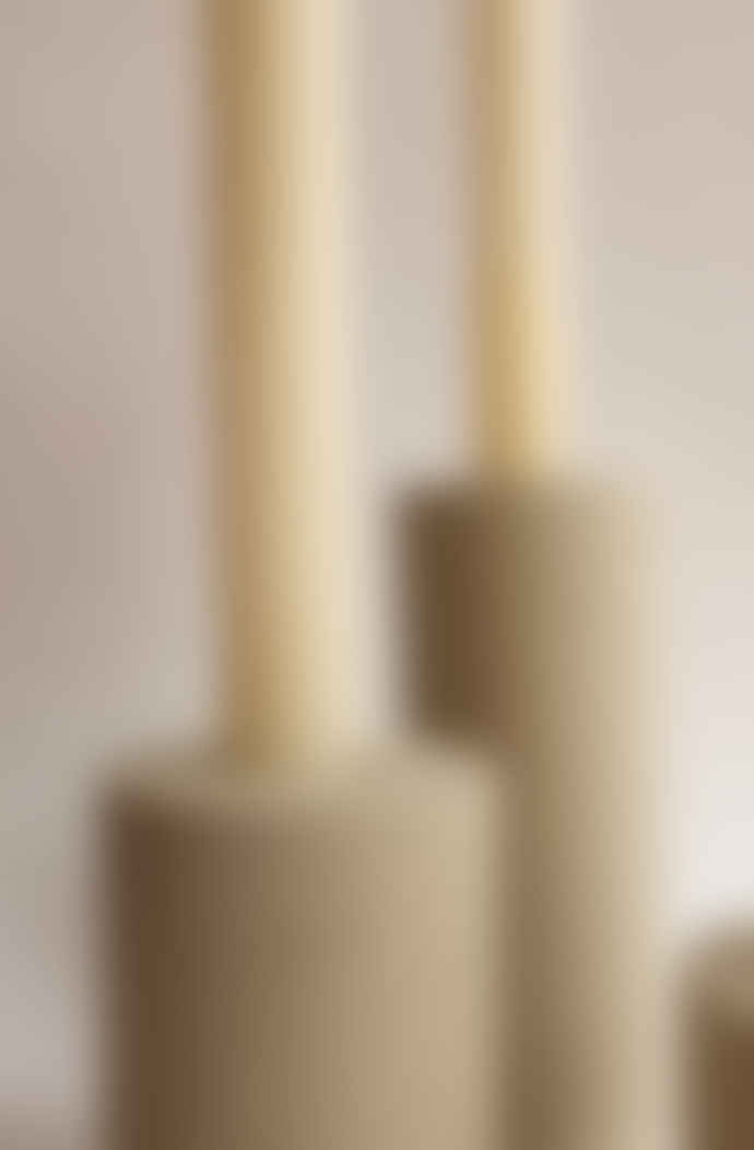Squid Ink Co. Set of 3 Stone Column Concrete Candle Stick Holders