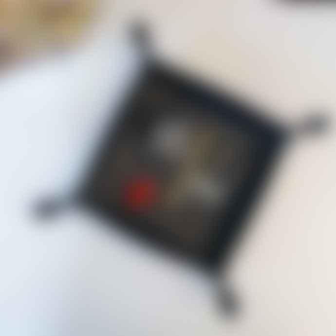 ITA Leathercraft 20 x 20cm Black Leather Corium Storage Tray