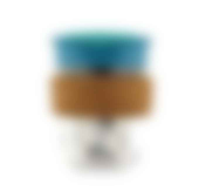 SoleCup 2 In 1 Glass Cork Band Blue Reusable Coffee Cup