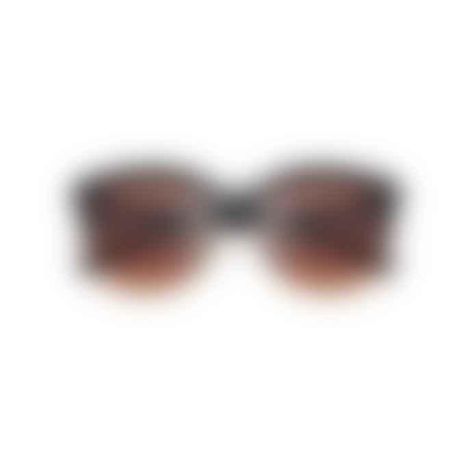 A Kjærbede Billy Black Brown Transparent Sunglasses