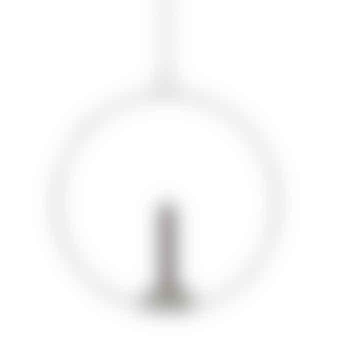 adorist White Round Decorative Ring with Vase Candle Holder