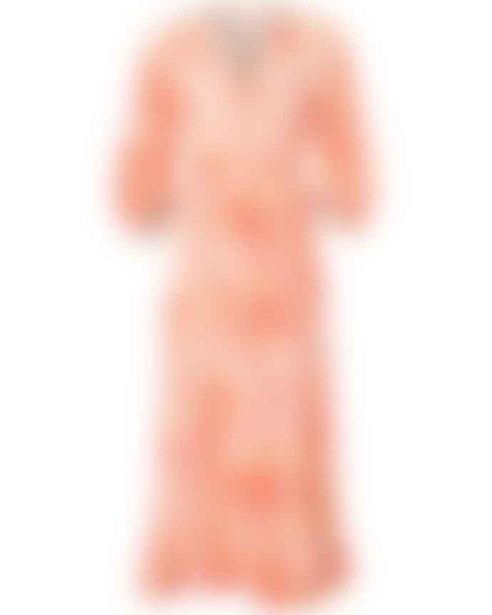 Charlotte Sparre Wide Wrap Dress Kaleido Red
