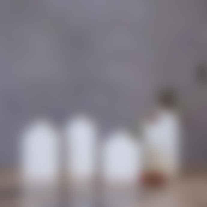 Rader Set of 4 Mini White Porcelain Garden House Bud Vases