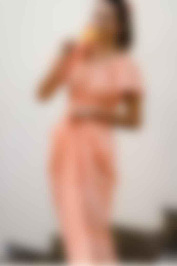 Pink City Prints Rah Rah Spanish Dress In Clementine Gingham