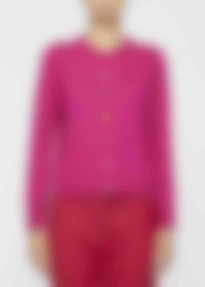 Paul Smith Fuschia Wool Cardigan with Feature Vintage Front Buttons