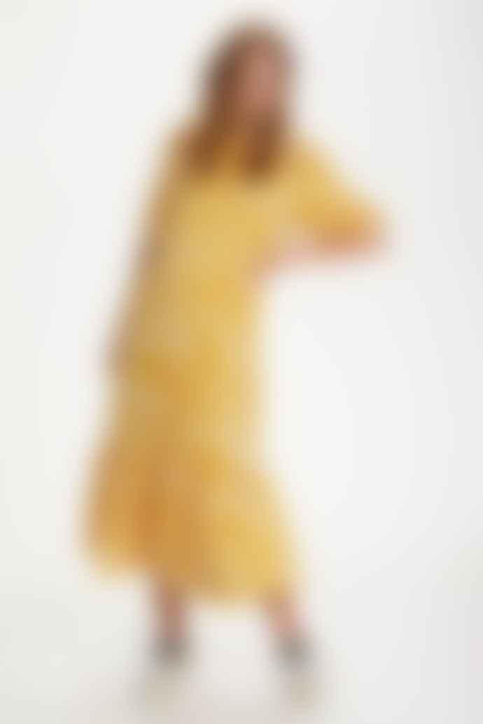 St. Tropez Yellow Zebra Print Dress