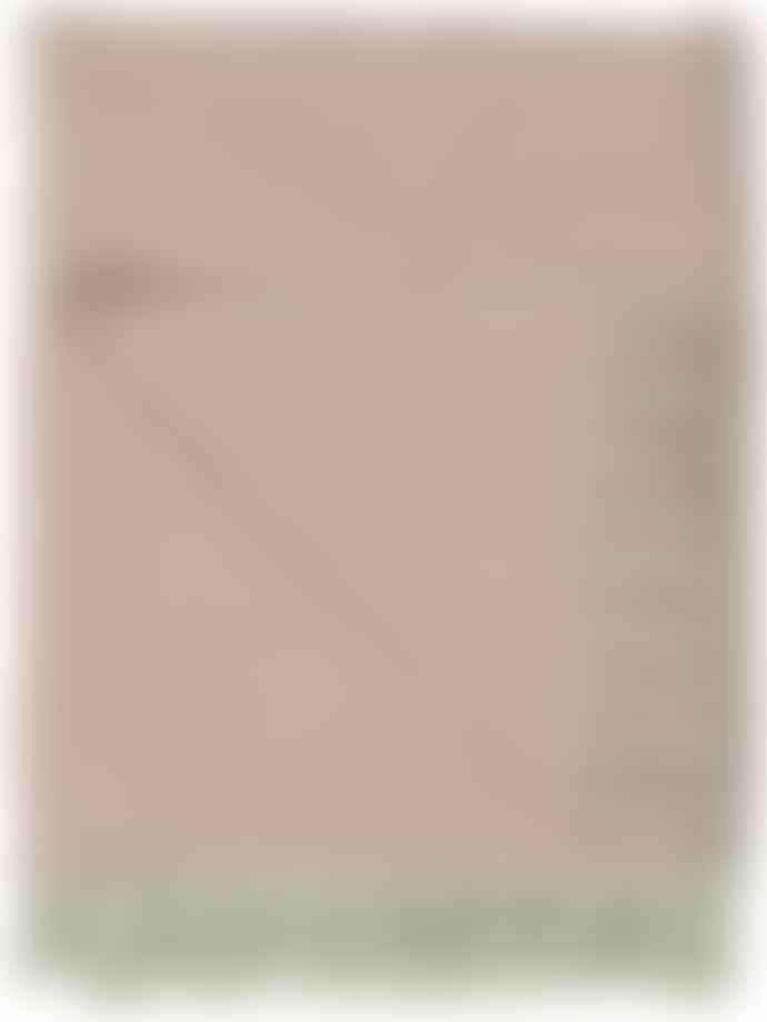 Ib Laursen Cotton Throw - Faded Rose & Cream