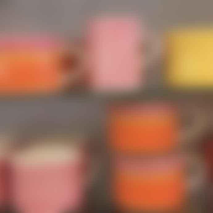 Musango Sgraffito Ceramic Mug Rose