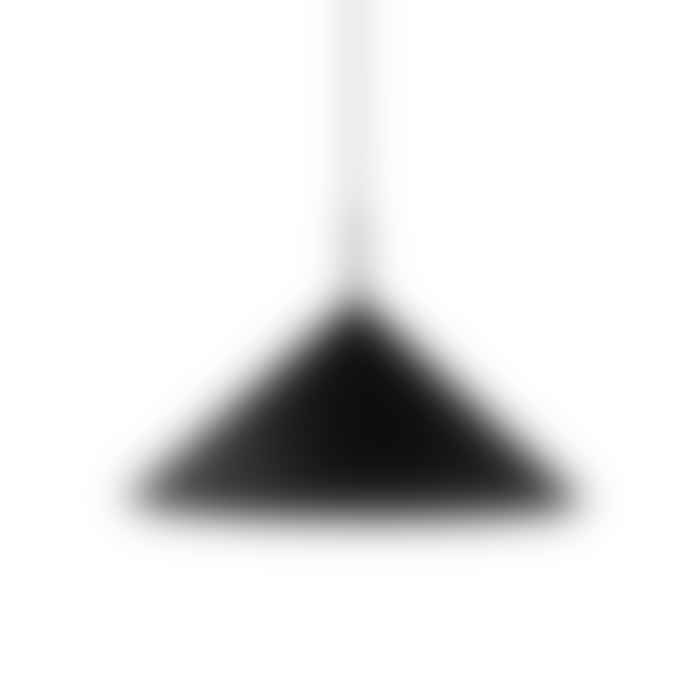 HKliving Triangular Peach Pendant Light In Moulded Metal