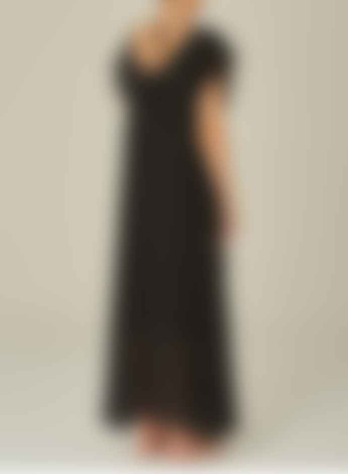 M.A.B.E Francie Maxi Dress In Faded Black