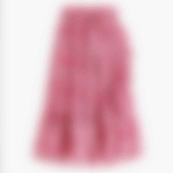 Pink City Prints Strawberry Trellis Wrap Ruffle Skirt