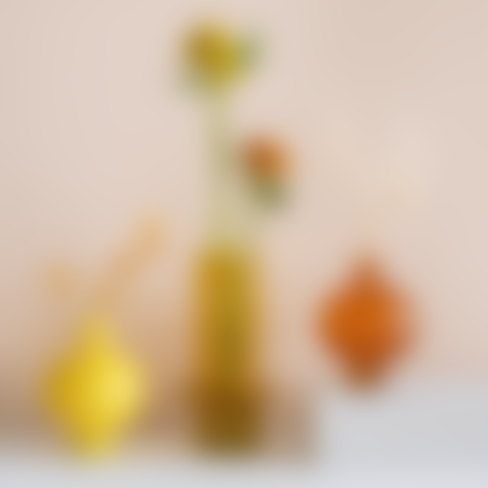 Urban Nature Culture Yellow Opaque Recycled Glass Vase