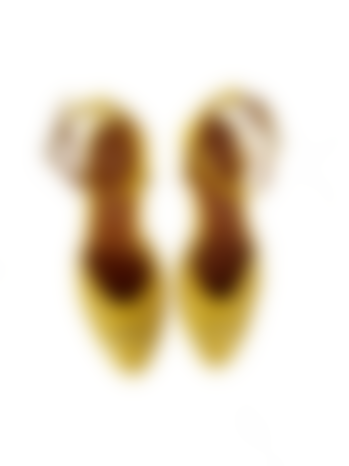 Anonymous Copenhagen Shoes Senara Suede Metallic Sandal Lemon Gold