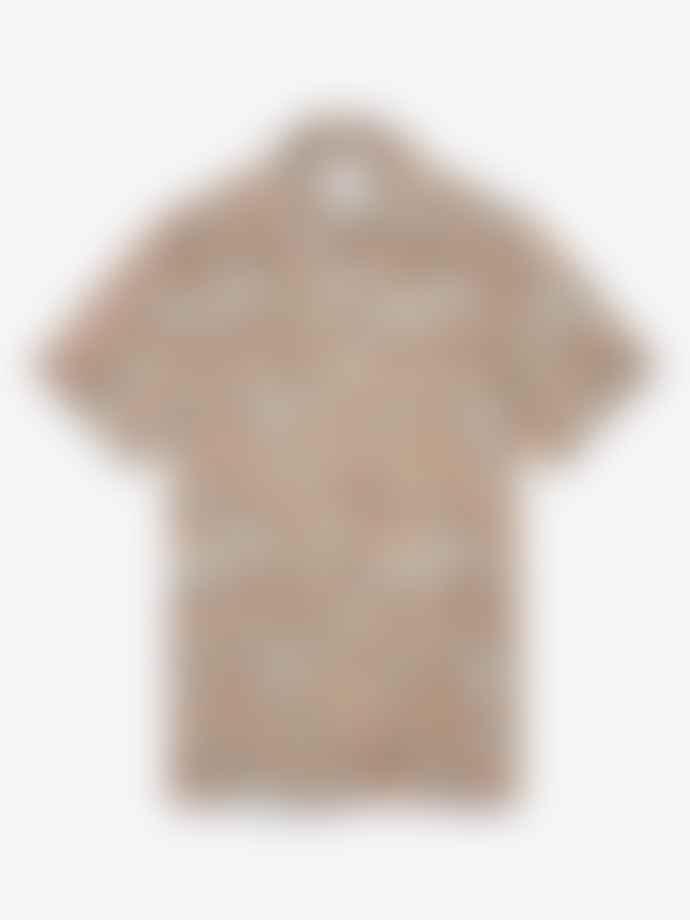Wax London Short Sleeve Shirt Wave Print Pink