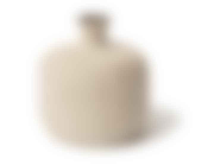 Lindform Small Light Sand Stripe Bottle Vase