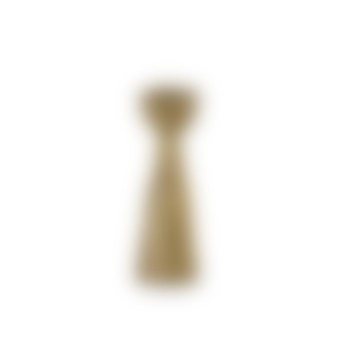 Nkuku Jahi Brass Candlestick Large 10.5 x 3.5cm