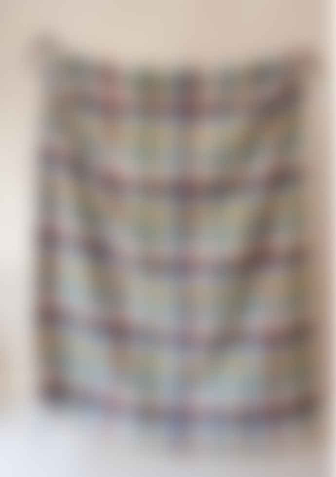 The Tartan Blanket Co. Recycled Wool Waterproof Picnic Blanket in Rainbow Check