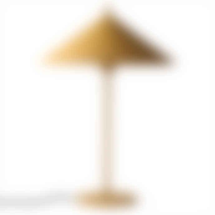 HKliving Ochre L Metal Triangle Lamp