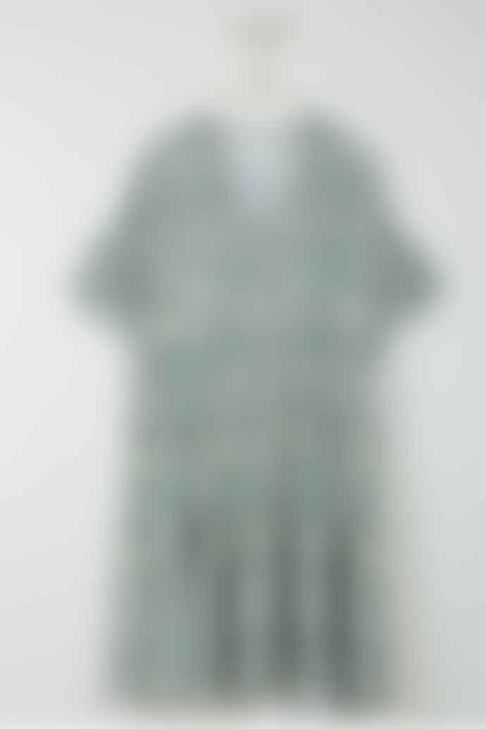 Indi & Cold Tile Print Short Dress In Green