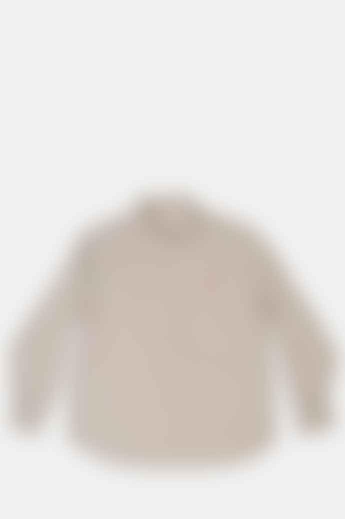 Danton Round Collar P O Shirt Oyster