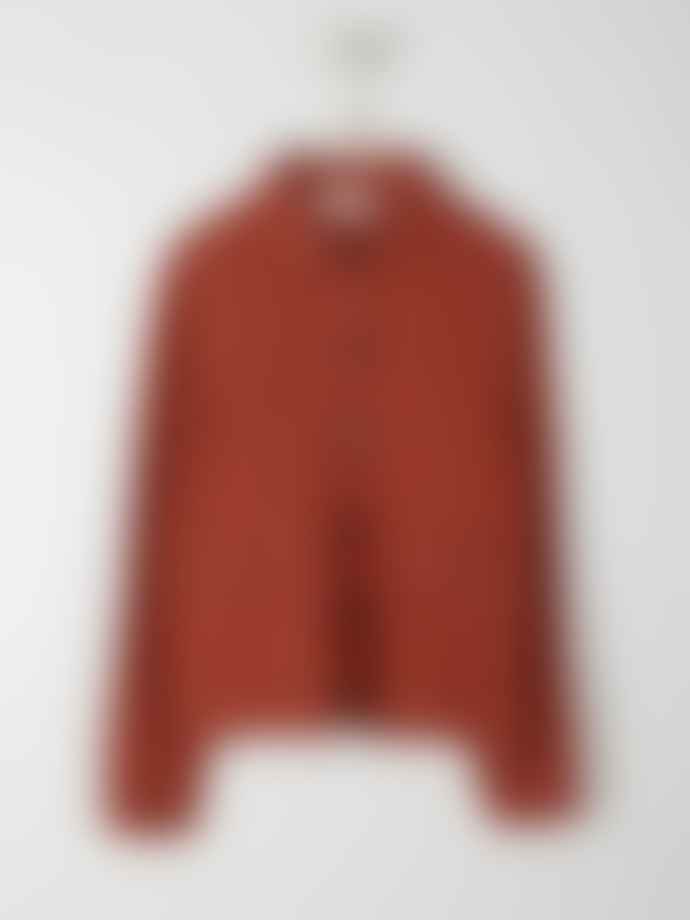 Indi & Cold Fluid Jacket with Pockets Terracotta