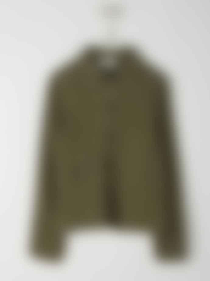 Indi & Cold Fluid Jacket With Pockets Khaki