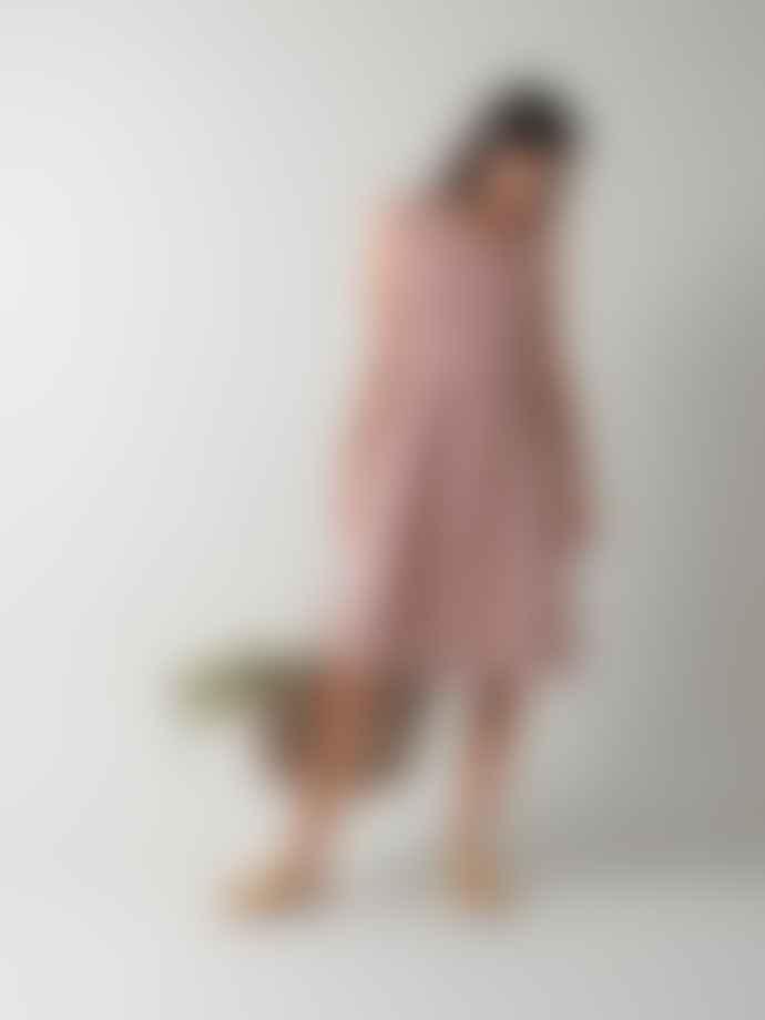 Indi & Cold Linen Strap Dress Lavender