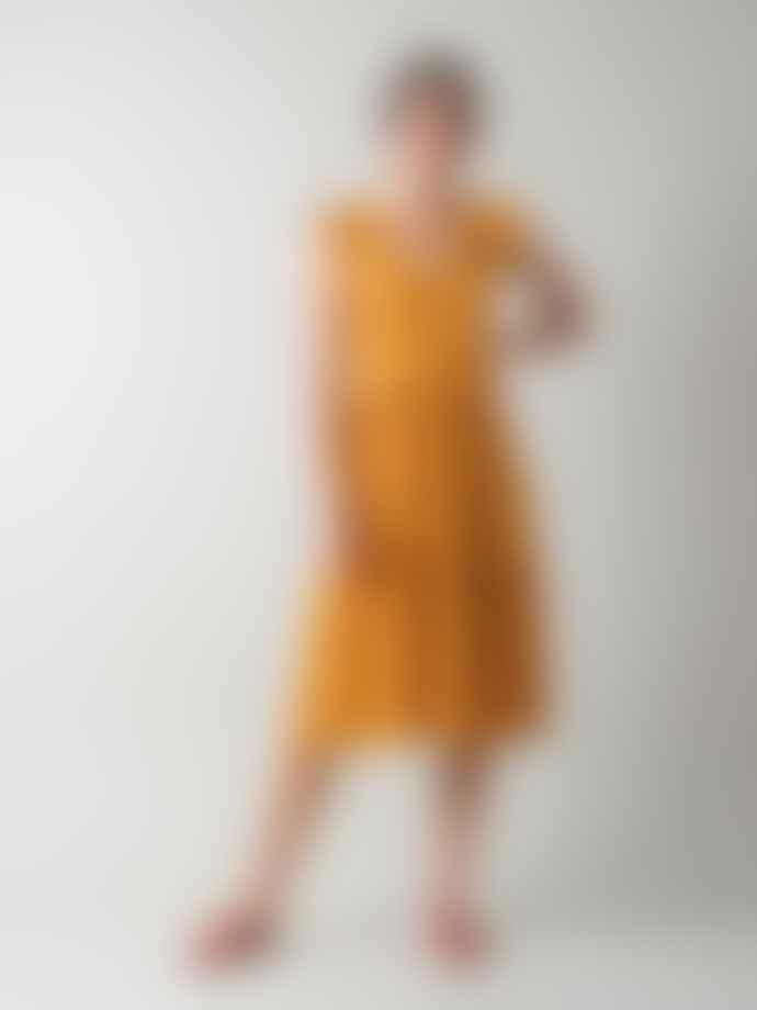 Indi & Cold Circular Knit Midi Dress