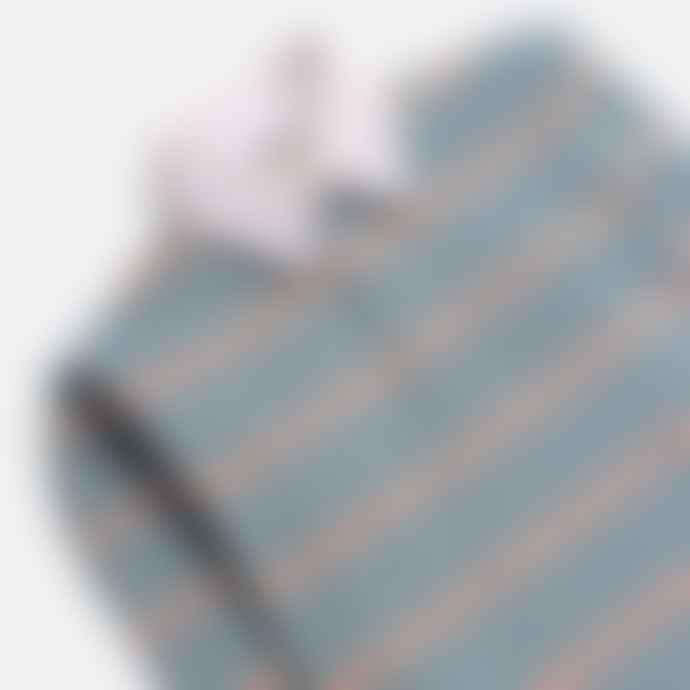 Far Afield Benito Rugby Shirt Optic Stripe Sagebrush Green