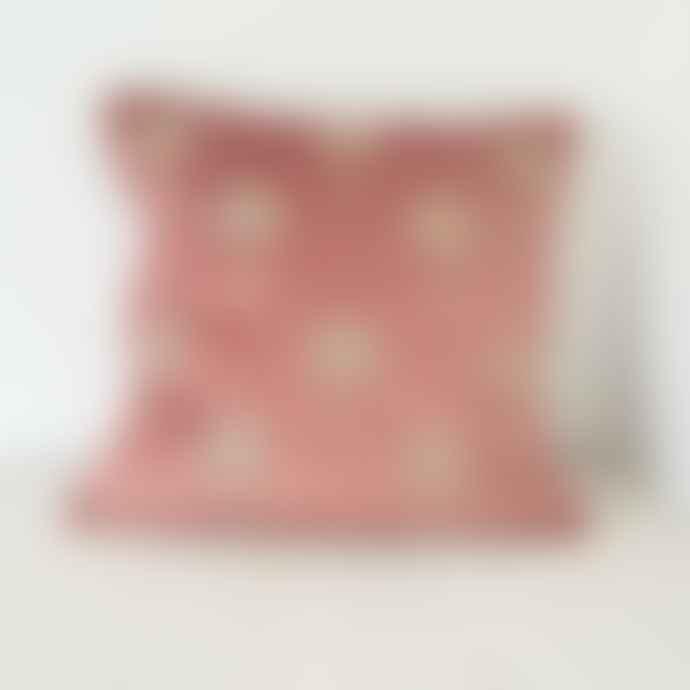 Malini Miami Pink Velvet Cushion