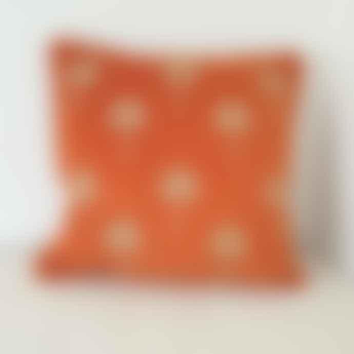 Malini Miami Orange Velvet Cushion