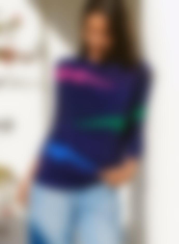 Sugarhill Rita Navy Triple Lightning Sweater