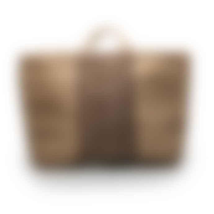 Maison Bengal Extra Large Grey Stripe Jute Hold-All Bag
