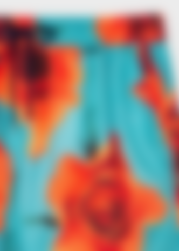 Paul Smith Turquoise 'Monarch Rose' Print Swim Shorts